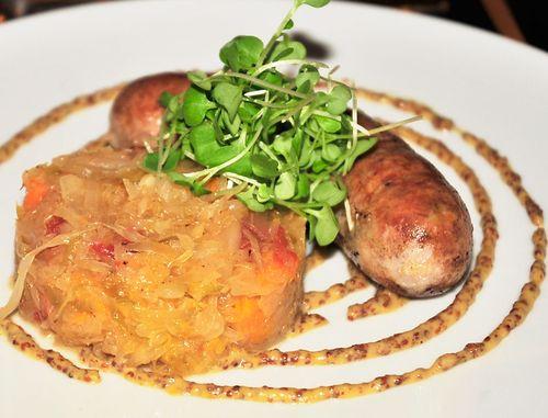 Duck-sausage-with-sauerkraut